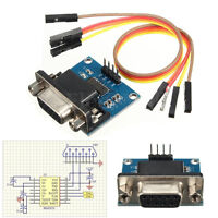 RS232 To TTL Converter Module Serial Module DB9 Connector 3.3V-5.5V Arduino fp