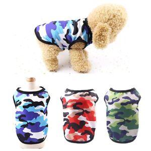 Beach Wear Camouflage Mesh Kitten Dog Vest Puppy Clothes T Shirt Pet Supplies