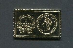 1854 United States Small Indian Head 1 Dollar Numistamp 1979 Medal Mort Reed