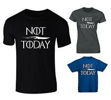 Not Today Arya Stark Game Of Thrones Inspired T-shirt - Mens, Womens, Kids Sizes