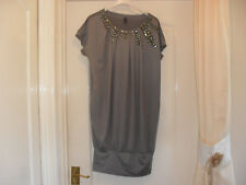 Long Vero Moda Grey Jewelled Top - Large - Worn once only