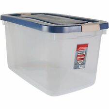 Rubbermaid Roughneck Clear Storage Tote Box 66 qt Container Latching Lid