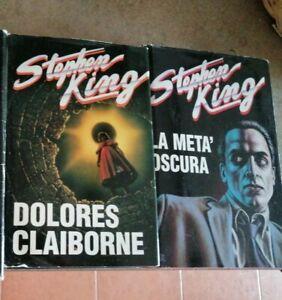 Lotto Stephen King 2 romanzi CDE EDIZIONI  DOLORES CLAIBORNE E LA META OSCURA