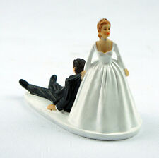 Favor Humor Marriage Funny Polyresin Figurine Wedding Cake Toppers Bride Groom