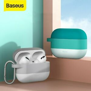 Baseus Silicone Earbuds Case w Hook Protective Shockproof Cover for AirPods Pro