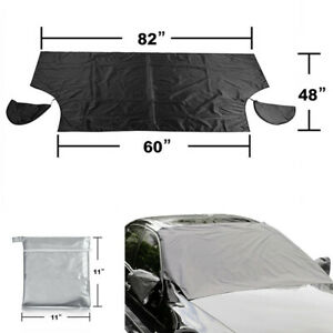 Car SUV Windshield Protector Sun Snow Cover with 5x Magnets Anti-slip Waterproof