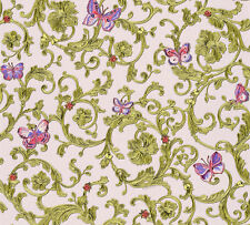 Versace 3 Home Wallpaper 343254 Ornament Schmetterlinge Tapete Designtapete