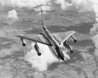 CONVAIR B-58 HUSTLER BOMBER FLYING 8x10 SILVER HALIDE PHOTO PRINT