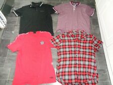mens clothes bundle- size large- 2 x polo shirts,umbro t-shirt+checked shirt