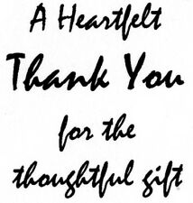 Unmounted Rubber Stamp, Thank You Stamps, Thank You Cards, Birthday, Christmas