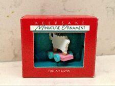 1988 Hallmark Miniature Ornament - Folk Art Lamb
