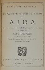 ANDREA DELLA CORTE AIDA G. VERDI GUIDA ATTRAVERSO IL DRAMMA BOTTEGA DI POESIA 19