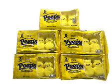 5 Peeps Yellow BUNNIES Marshmallow Candy Exp. 02/2022