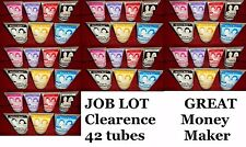 JOB LOT  BULK  Colour FX Hair Gel 42 tubes Halloween Carnival XMAS FUN PARTYxx