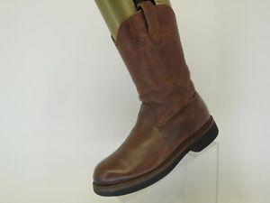 Georgia Farm & Ranch Brown Leather Cowboy Western Boots Mens Size 8 D