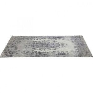 Kare Design Teppich Kelim Vintage Look Pop Grau Grey 200 x300 cm