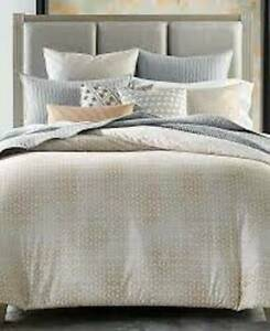 NEW HOTEL COLLECTION 'BEDFORD GEO' FULL/ QUEEN Comforter $335 MACHINE WASHABLE
