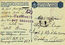 G493-II WW., P.M. 169 SU C.P., FRANCIA PER COPERTINO ( LECCE), 4° ARMATA, 1943