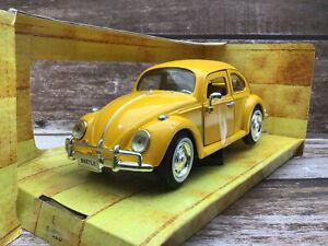 Redbox 1/24 1966 VW Beetle - Yellow - MIB