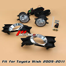 2x Fog Lights for Toyota Wish 2009 2010 2011+Covers Left+Right Fog Lamp+ Switch