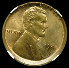 (MINT ERROR)1941 1C Struck Off Center -NGC MS65 BN