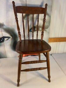 Antique Vintage Australian Timber Kitchen Dining Chair Pressed Kangaroo Motif