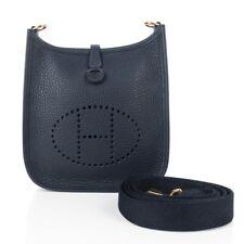 Hermes Evelyne TPM Bag Blue Nuit Clemence Gold Hardware New