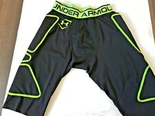 Under Amour heat gear compression  shorts long lime green/black small men's