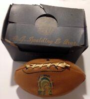 1939 NEW YORK WORLD'S FAIR BOXED SALESMAN'S SAMPLE SPALDING FOOTBALL.