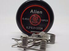 10 résistances, coil, Kanthal A1 alien Clapton 0.45 ohm