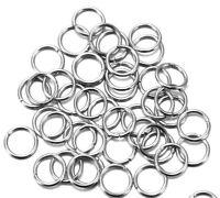 250 Binderinge 8mm Ösen Altsilber Metall Ring Verbinder Spaltringe BEST SF14