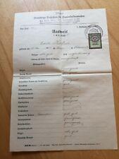 altes Zeugnis/Ausweis 1938 Damenkleidermacher, Wien
