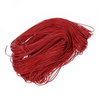 45 meters Waxed Cotton Cord Lacing - Red P6V2