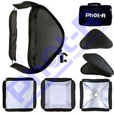 "Phot-R 60cm/24"" Folding Softbox Diffuser Photo Studio Hotshoe Flash Speedlight"