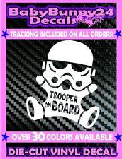 Stormtrooper Baby on Board Trooper Star Wars Vinyl Decal Sticker Car