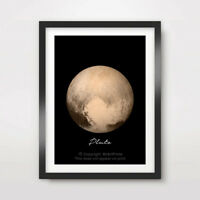 PLANET PLUTO Art Print Poster Home Decor A4 A3 A2 Nasa Photography Picture Space