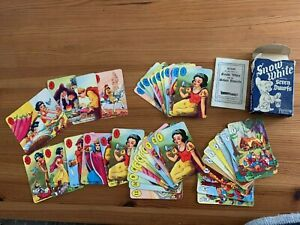 Snow White and the Seven Dwarfs: vintage card game