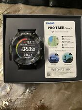 NEW CASIO PROTREK Smart WSD-F21HR-BK Wear OS Google Watch Heart Rate Monitor GPS