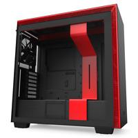 NZXT H710 Black/Red ATX Mid Tower Tempered Glass Desktop Computer Case Grade B