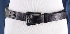 Ladies Michael Kors Leather Belt Black w Silver Snake Skin Accents Sz S 553521