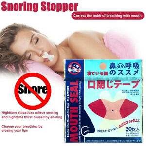 Sleep Strip Mouth Tape Advanced Gentle for Better Nose Improved Breathing 30x