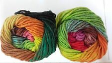 Noro Kureyon #352 Lime, Pink, Orange, Green Mix 50g