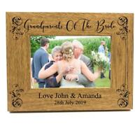 Grandparents Of The Bride Personalised Wooden Photo Frame Gift FW334