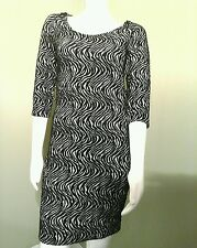 1db243f7ad9 Charlotte Russe Black   White Striped Bodycon Sweater Dress ~Size M