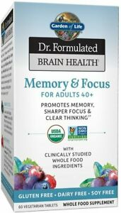 Dr. Formulated Brain Health Organic Memory & Focus for Adults 40 Plus, 60 tablet
