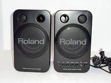 ROLAND MA-8BK POWERED STEREO MICRO STUDIO MONITORS SPEAKERS