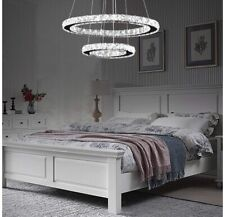 Arxeel Modern Crystal Chandelier, Contemporary Led Ceiling Lights Fixtures