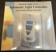 Sharper Image Automatic Light Controller-Sound & Motion -Factory Sealed New