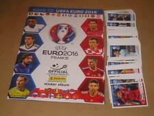 ALBUM FIGURINE STICKERS PANINI ROAD TO UEFA EURO 2016 + SET COMPLETO FULL-MAX