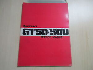 Suzuki GT50 GT50U Manual de Operación Guía Del Conductor Servicio SR-0530